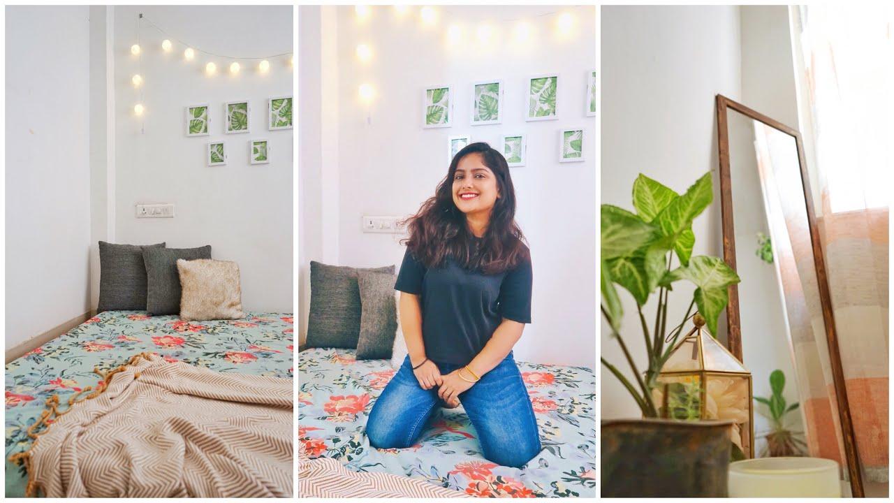 Small Bedroom Makeover Rental Friendly Decor Interior Maata Youtube