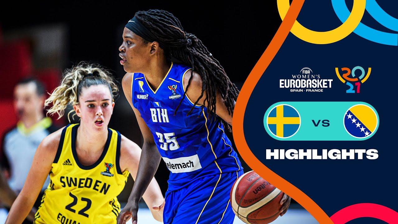 Sweden - Bosnia & Herzegovina   Highlights - FIBA Women's EuroBasket 2021