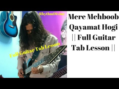 Mere Mehboob Qayamat Hogi Guitar Lesson. || Mr. X In Bombay ||Simple Guitar Lesson