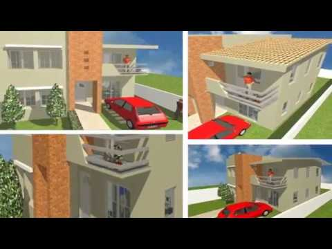 Planos casa de 2 pisos con 5 rec maras oax youtube for Planos arquitectonicos de casas