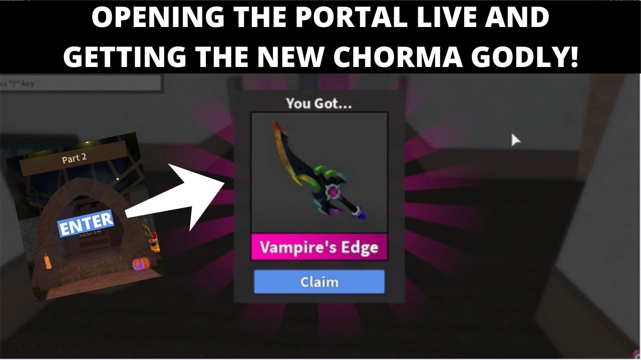 Sep 01, 2021· last updated on 1 september, 2021. OPENING THE MM2 HALLOWEEN PORTAL LIVE AND GETTING THE NEW CHROMA GODLY! | MM2 HALLOWEEN UPDATE ...