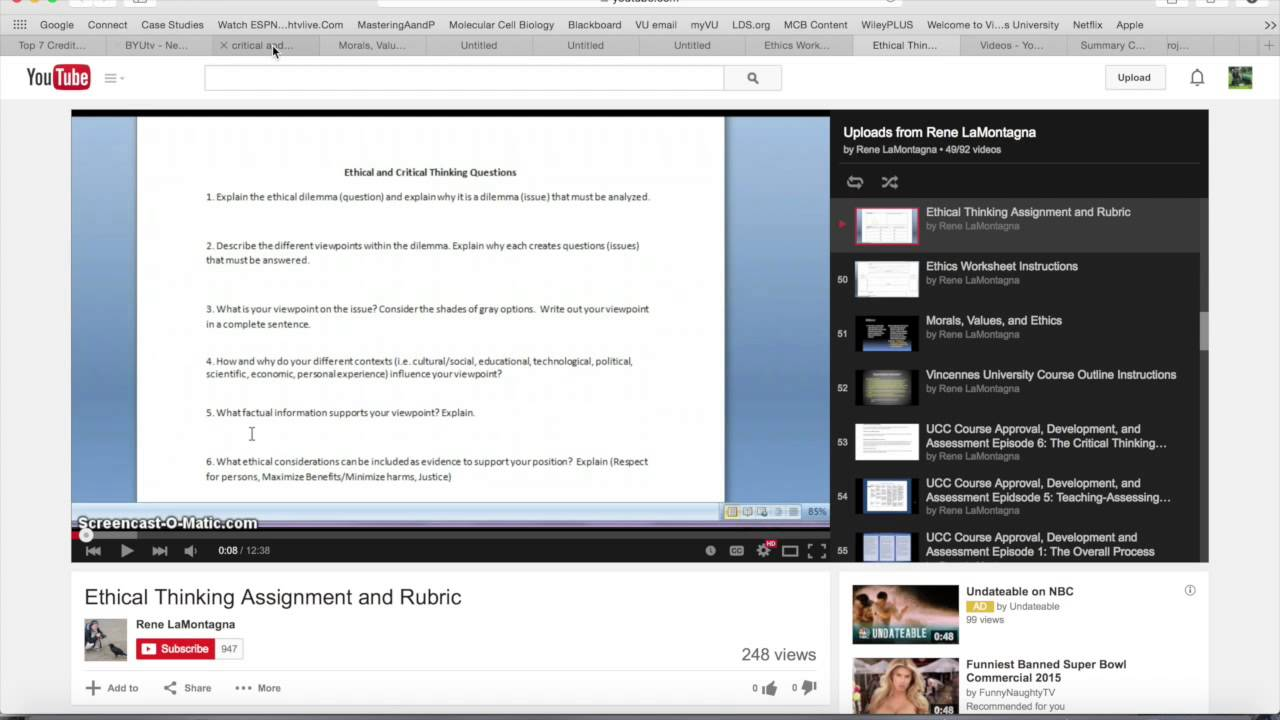 critical thinking assignment - YouTube