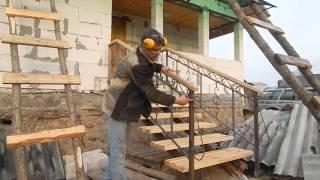 Кованые перила для лестниц и балкона(группа вконтакте https://vk.com/clubhardzei Любой вид сварных изделий из металла! Ковка! Сварные работы! Сделаем прак..., 2016-04-12T20:44:21.000Z)