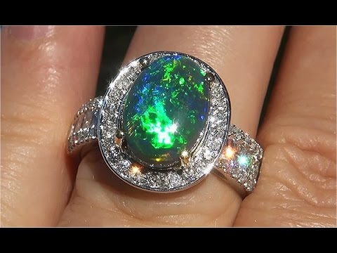 opal media pink ring rose multi stone black ringappraisal tourmaline appraisal included engagement rings