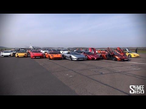 P1, Enzo, XJ220 - Full Grid Walk at SCD Secret Meet