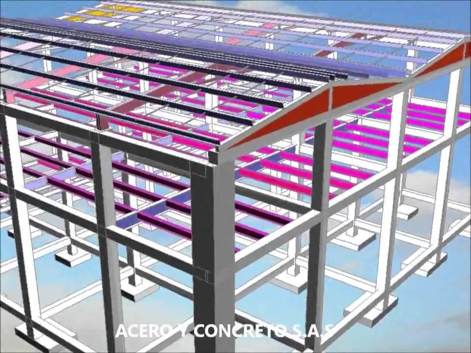 Estructura metalica acero y concreto sas 2 youtube - Casas con estructura metalica ...