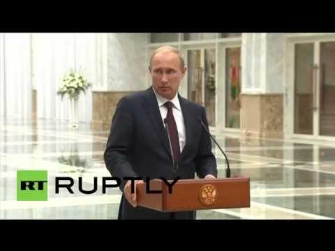 Belarus: 'Russia can't set ceasefire conditions in Ukraine's internal conflict' – Putin