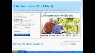 Life Insurance For a 82 Year Old - Is it Available Any Company List