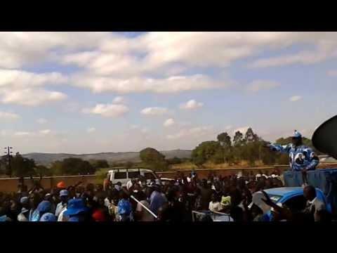 Arthur Peter Mutharika arriving in Neno