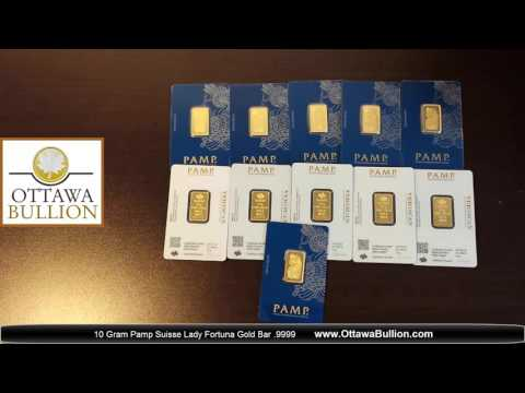10 Gram Pamp Suisse Lady Fortuna Gold Bar - Buy Gold Ottawa