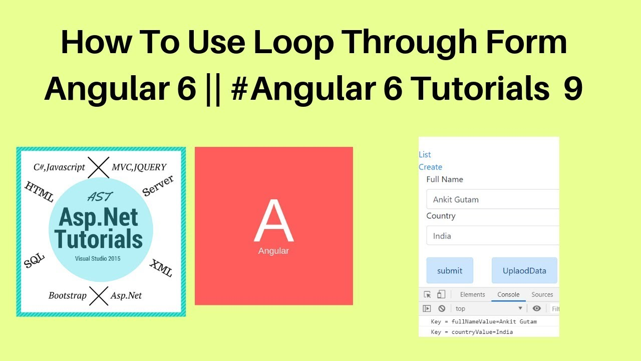 How to use loop through form in angular 6 || #angular 6 tutorials 9