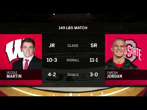 149 LBS: Cole Martin (Wisconsin) vs. #3 Micah Jordan (Ohio State)