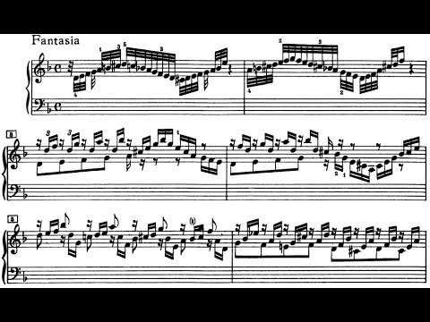 J.S. Bach Chromatic Fantasia and Fugue in d minor, BWV 903 (Schiff)
