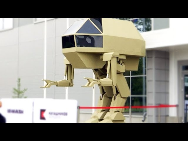 Hi-tech arms and Kalashnikov robot 'Igoryok' highlight Russian arms expo