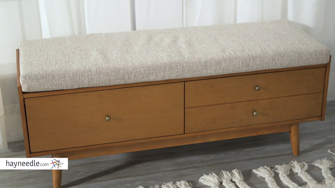 Belham living anson mid century modern entryway bench product review video