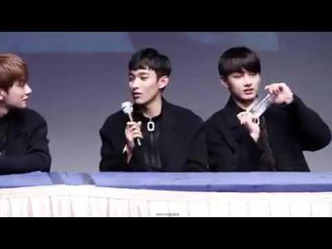 [SEVENTEEN]🎬🎥 Singchon Fansing 1/1/17 ~°DK Triying sing