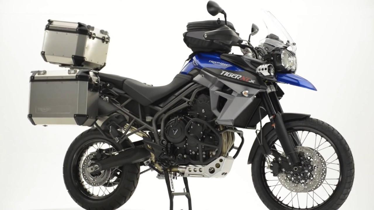 new triumph tiger 800 accessories adventure tank bag - youtube