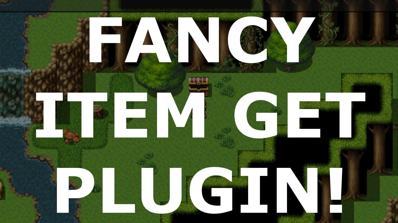 RPG Maker MV Plugins: Fancy Item Get!