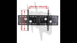VideoSecu Tilt TV Wall Mount Bracket for 37 to 70-Inch LCD LED Plasma Screen Black MP502B