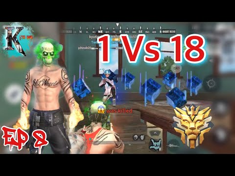 Grand Master 1 vs 18 Rules Of  Survival Khmer Ep 8 - TenKay -