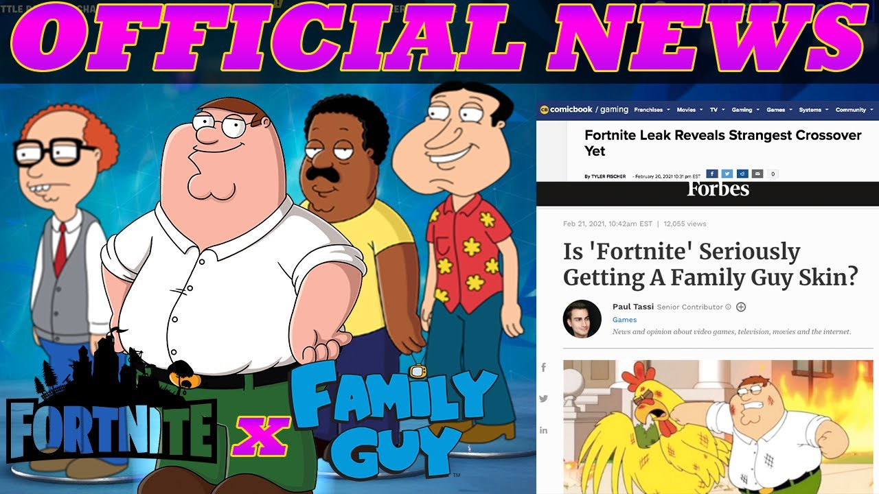 FAMILY GUY SKINS OFFICIALLY COMING TO FORTNITE!!