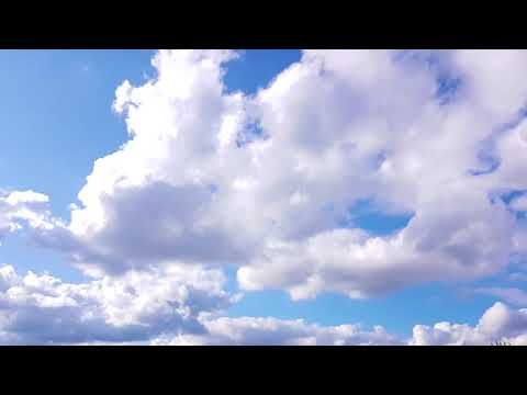 Deep Blue Sky and Clouds. Timelapse Ultra HD 4K 2160p