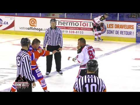 Greatest hockey fight ever David Lacroix Vs Jon Mirasty Oct 6 2017