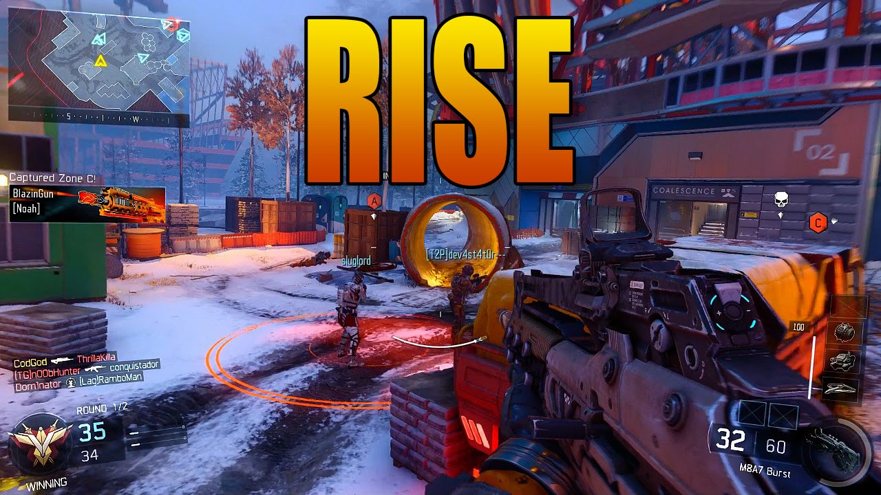 Black Ops 3 Rise Dlc Map Gameplay Snowy Construction Site