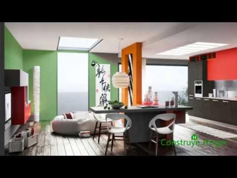 Colores para sala dormitorio y cocina con aplicaci n - Pinturas para cocina ...