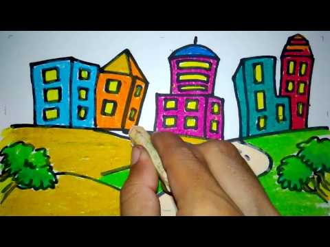 Cara Menggambar Gedung Di Perkotaan