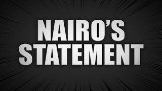 Nairo's Statement: My Thoughts