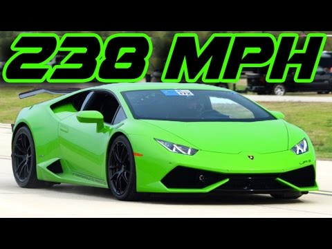 2 300hp Lambo Goes 238 60mph New 1 2 Mile World Record
