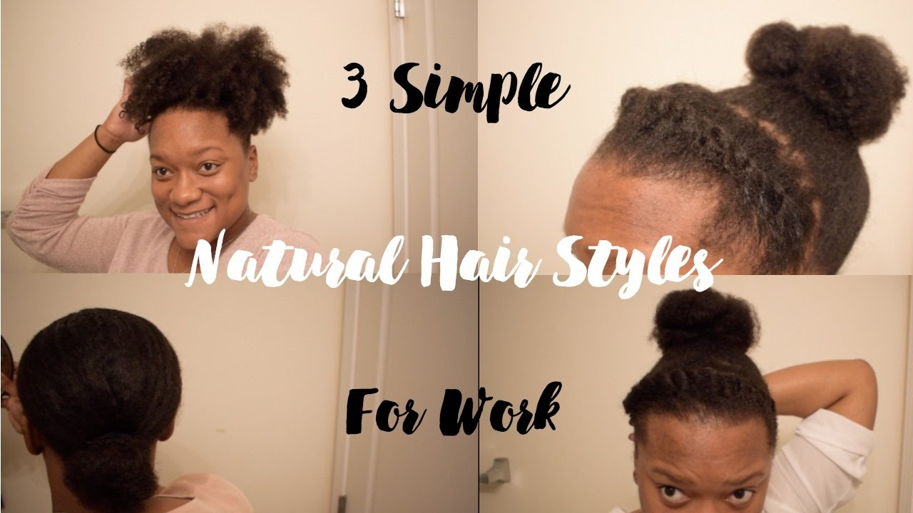 3 natural hairstyles work