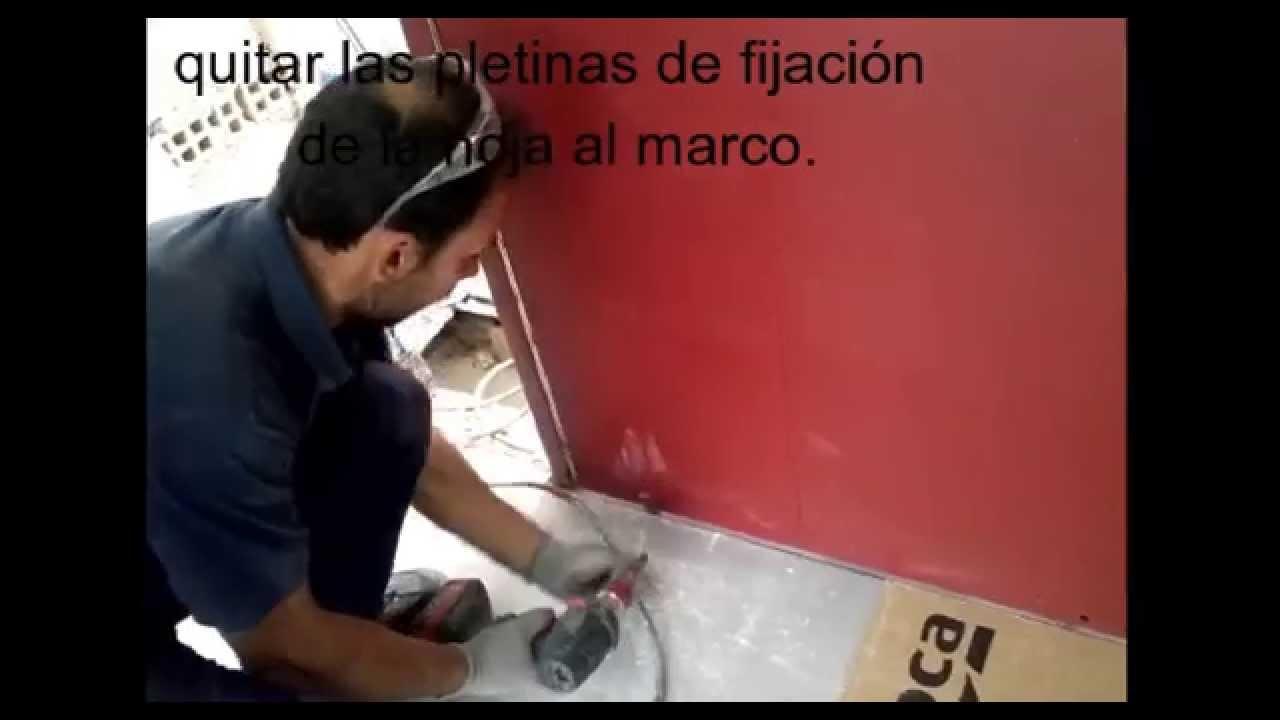 Instalación puerta eje vertical. - YouTube