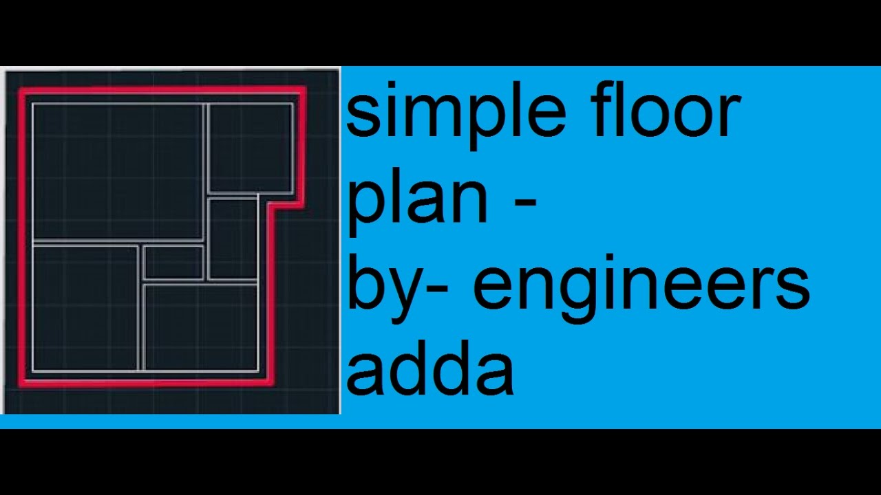 Autocad 2d basics tutorial to draw a simple floor plan2017 autocad 2d basics tutorial to draw a simple floor plan2017 publicscrutiny Choice Image