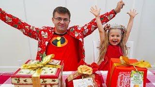 ديانا وبابا يستعدان لعيد الميلاد