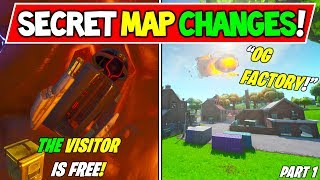 "'NEW' FORTNITE SECRET MAP CHANGES v10.00 ""The Visitor Broke Out!"" - ""OG POI!"" - Saison 10 Storyline"
