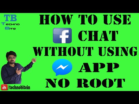 How To Use Facebook Chat Without Messenger On Android Device [Hindi] [no Root]