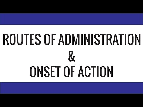 Onset of Action & Route of Administration - Relationship - Explanation from Aulton's Pharmaceutics from YouTube · Duration:  1 minutes 41 seconds