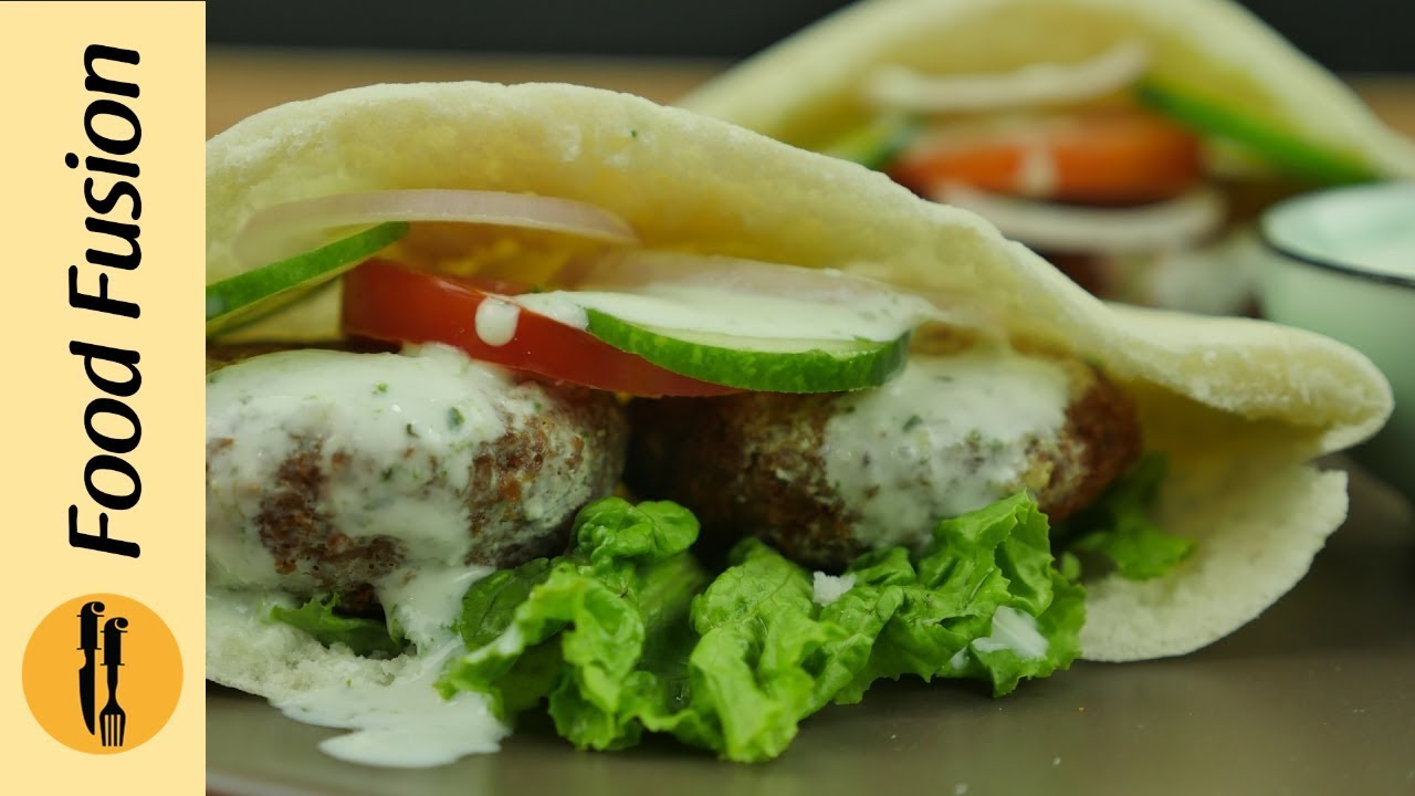 Falafel Pita Recipe By Food Fusion Youtube