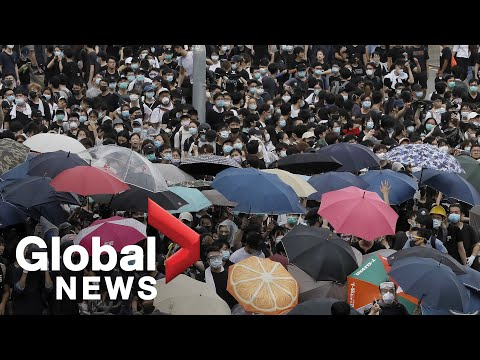 Protests continue in Hong Kong as China pushes forward with extradition law
