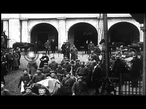German forces invade Luxembourg and Belgium at start of World War I HD Stock Footage