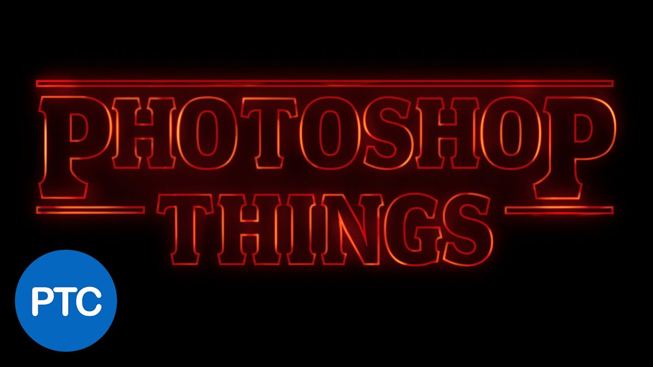 Stranger things text effect in photoshop youtube baditri Image collections