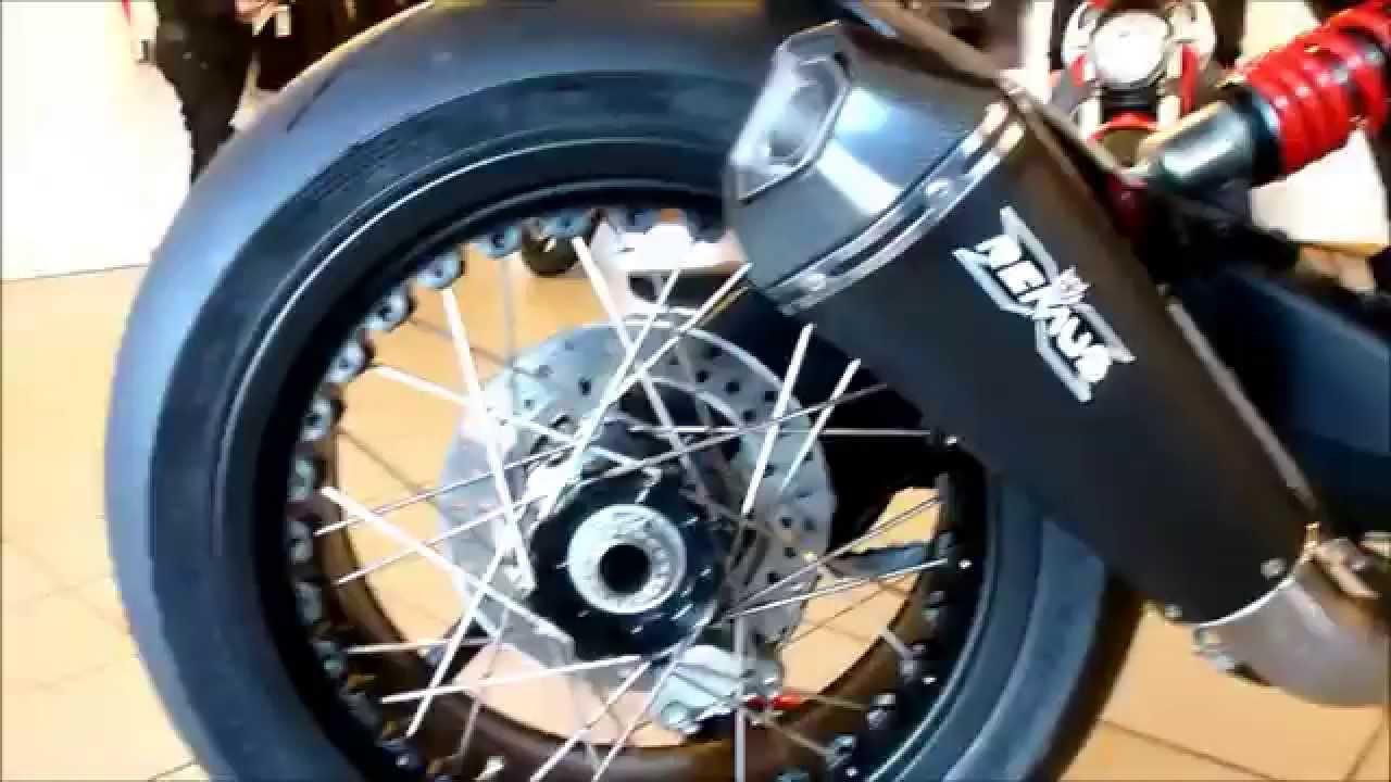 ducati monster 1100 evo ''cafe racer'' ''remus'' exhaust spoke