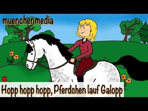 🎵 Hopp, hopp, hopp, Pferdchen lauf Galopp - Kinderlieder zum Mitsingen | Kinderlieder deutsch
