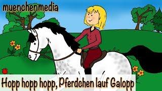 Kinderlieder deutsch - Hopp, hopp, hopp, Pferdchen lauf Galopp - Kinderlieder zum Mitsingen