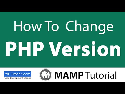 How To Change PHP Version (MAMP Tutorial) - WDTutorials.com