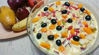 Custard fruit salad