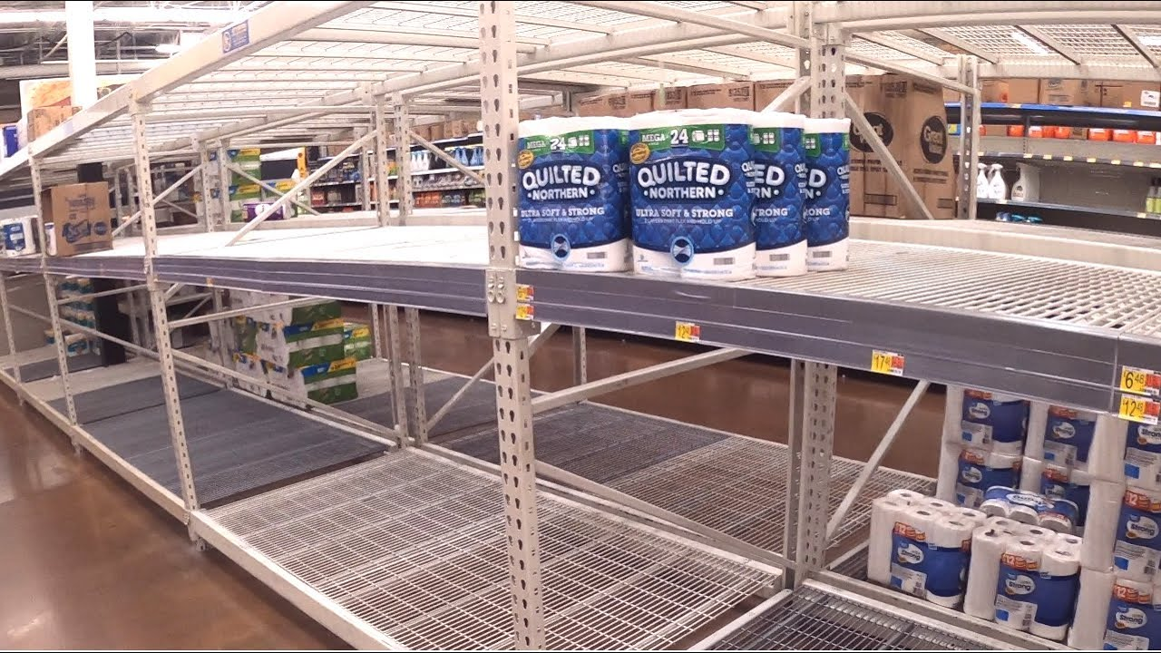 EVERYONE IS PANIC BUYING AGAIN! WALMART IS GETTING CLEANED OUT!