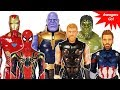 Marvel Avengers Infinity War~! Thanos appeared~! Power FX Thor, Hulk, Spider Man, Captain America